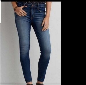 AMERICAN EAGLE SKINNY SUPER STRETCH JEANS  ~ NEW